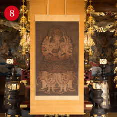 Jikoji Temple Color on Silk Image of Fugen Enmei